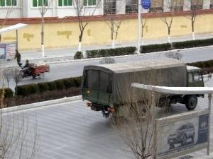 Militärtransporter Tibet