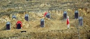 Gräber in Tibet