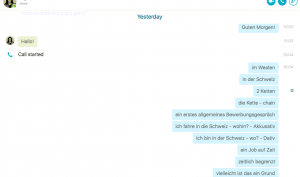Screen Shot Skype Chat