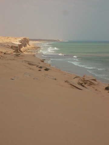 Reaching the Sea and Sandcliffs
